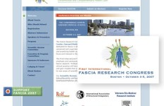 1st International Fascia Research Congress logo and website design