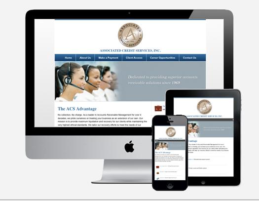 ACS Credit Services responsive Website design