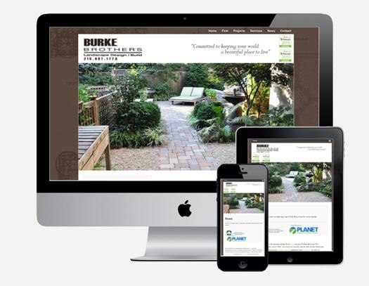 Burke Brothers Landscape Design/Build website