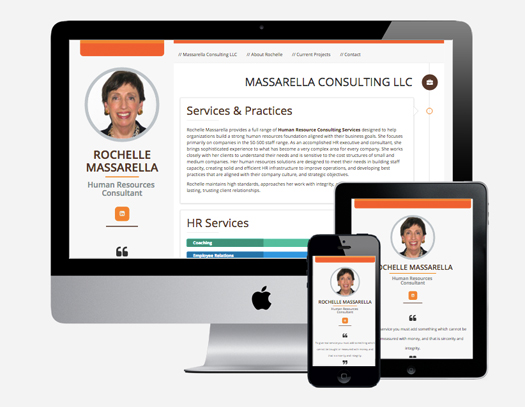 Massarella Human Resources Consulting responsive website design
