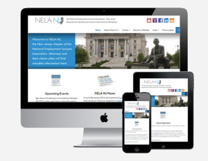 New Jersey Chapter National Association of Employment Lawyers responsive website