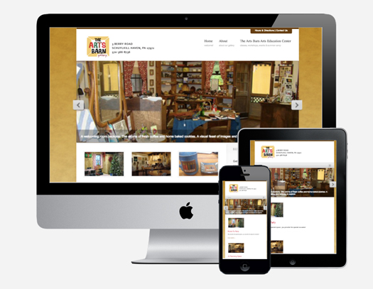 The Arts Barn Gallery Responsive Website