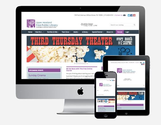 Upper Moreland Free Public Library website design