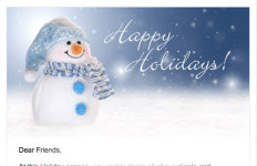 Law Offices of RIchard E Yaskin Holiday Email