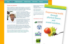 Stallean Fitness & Nutrition LLC website and brochure design
