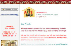 Email Marketing for The Arts Barn