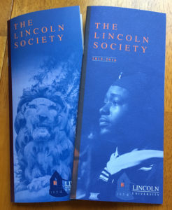 The Lincoln Society Brochures