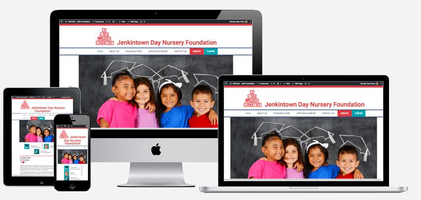 Responsive website design for JenkintownDayNursery.org